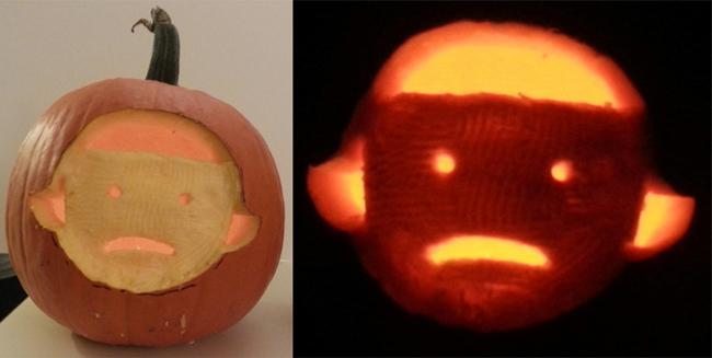Ok, it's actually just a Girl pumpkin.