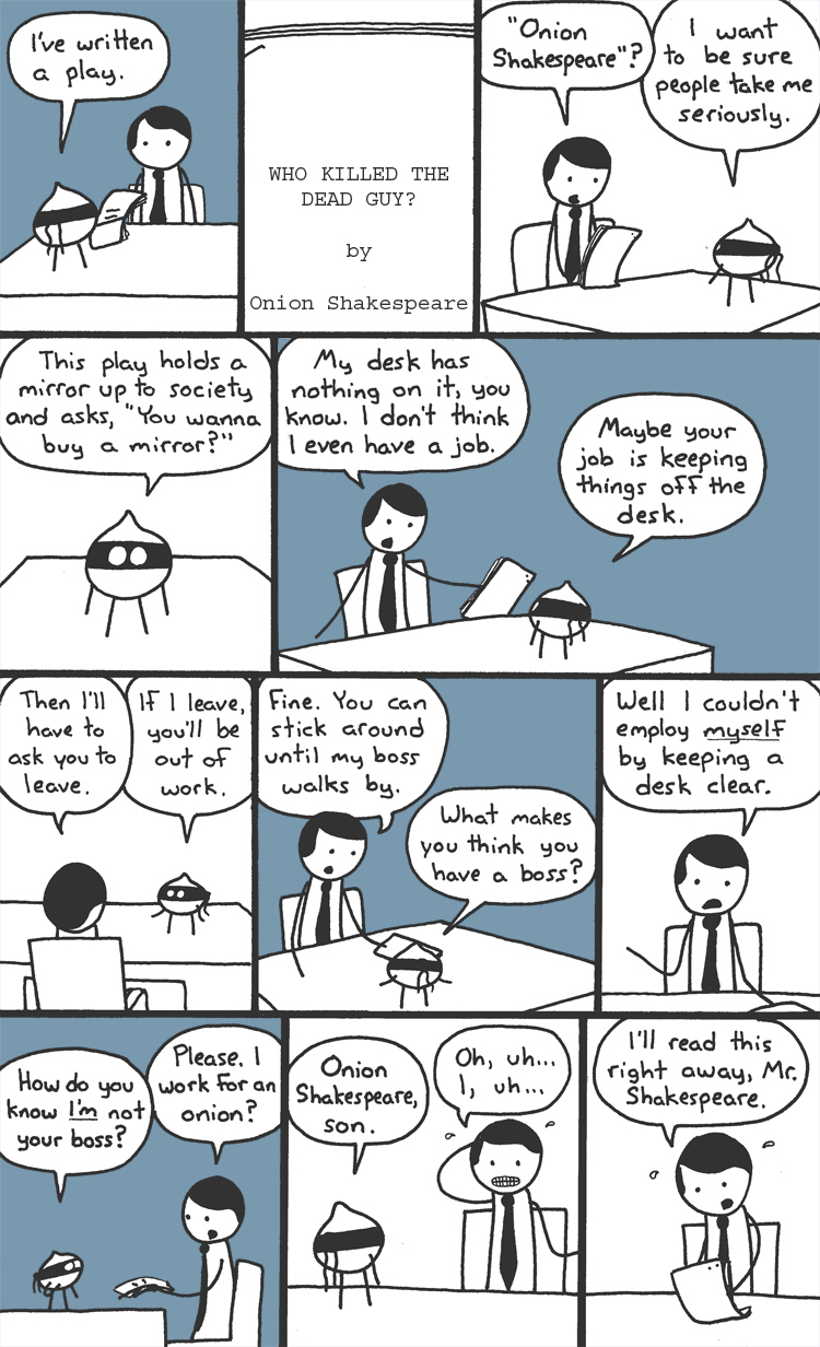 Mountain Time: All the best comics featuring people at desks saying ''I, uh...''